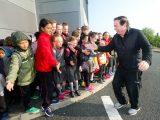 RTE's Marty Morrissey of Kilmurry Ibrickane greets EnnsiNS pupils